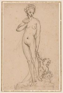 Design for a Sculpture: Venus and Cupid