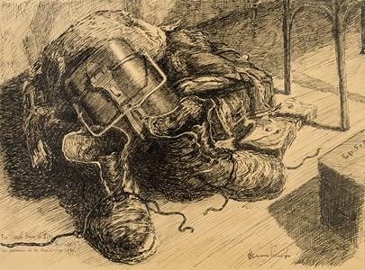 Souvenir de la Mobilisation: Still Life with Army Boots and a Canteen