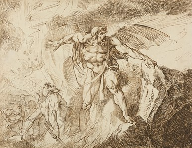 Satan in Hell, from Milton's Paradise Lost