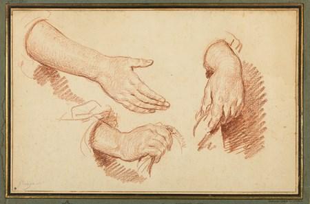 Studies of Three Hands
