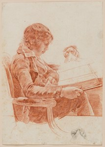 The Artist's Son Michel-Martin Reading, with Two Studies of His Left Hand