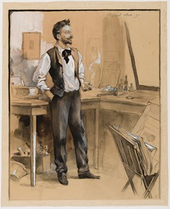 Portrait of the Artist Félicien Rops in his Studio