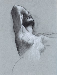 Study of a Despairing Female Nude