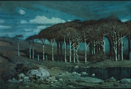 Moonlight: The Lonely Wood, near Penzance