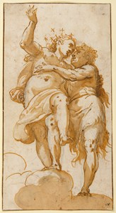 Two Allegorical Figures (Bacchus and Ariadne?)