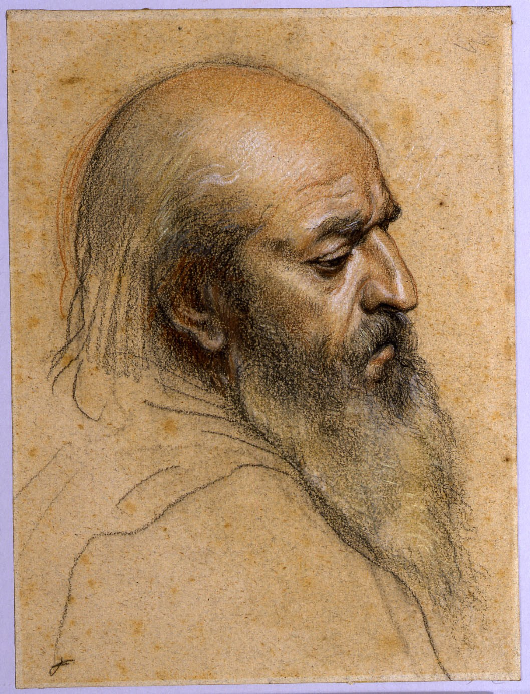 Alexandre Hesse The Head Of A Bearded Old Man Looking Down To The Right