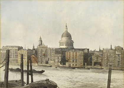 St. Paul's Cathedral from the South Bank of the Thames