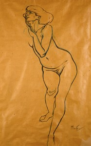 A Standing Female Nude (Study for Petronius and Eunice, from Quo Vadis)