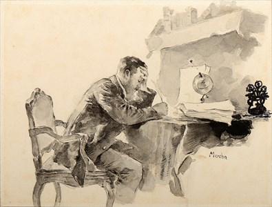 The Letter (Self-Portrait)