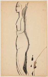 Standing Nude in Profile (Nu debout de profil)