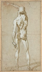 A Flayed Male Nude, seen from Behind, after Pietro Francavilla
