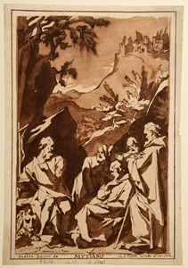 Sacra Conversazione with Saints Jerome, Romuald(?) and other Hermit Saints, after Girolamo Muziano