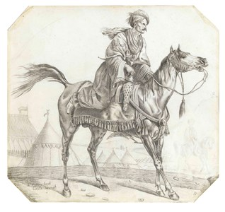 A Mameluke Mounting his Horse