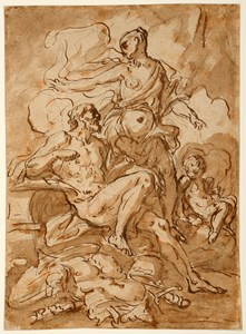 Venus and Vulcan [recto]; The Feast of the Gods [verso]