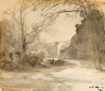 Landscape with a Pond near Crémieu