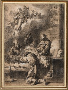The Death of Saint Francis, after Annibale Carracci