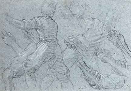 Studies of Youths Pulling on Ropes
