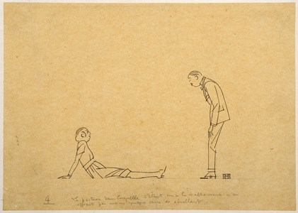 A Recumbent Woman and a Standing Man