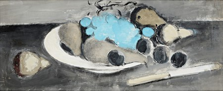 Still Life with a Knife and Grapes