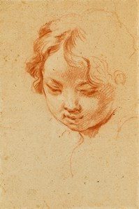 The Head of a Child Looking Down