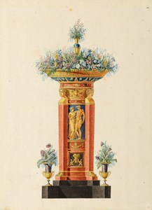 A Design for a Jardinière, with a Relief of Venus and Apollo