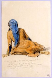 A Seated Gypsy Woman, Seen from Behind