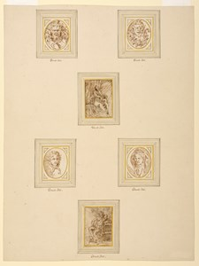 Six Drawings on an Album Page: