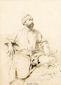 A Seated Arab Man