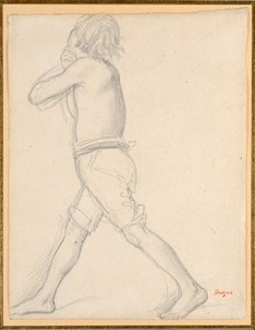 A Striding Youth: Figure Study for The Daughter of Jepthah