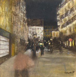 A Parisian Street at Night