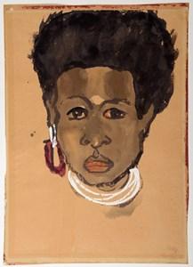 Head of a South Sea Island Woman (Bildnis einer Südseeinsulanerin)