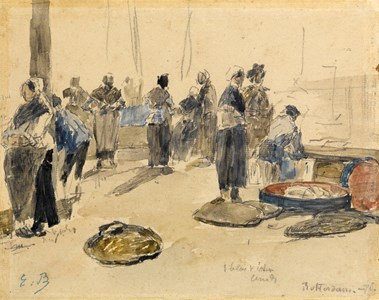 A Fish Market in Rotterdam