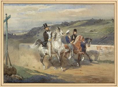 Horace Vernet Out Riding