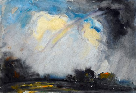Landscape with a Stormy Sky