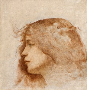 The Head of a Young Girl in Profile