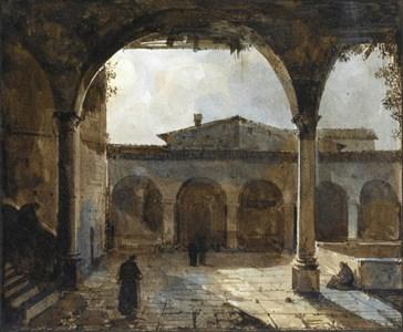 The Cloister of an Italian Monastery