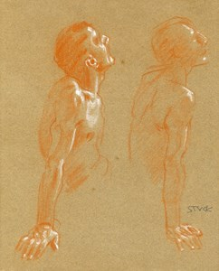 Two Studies of a Male Nude