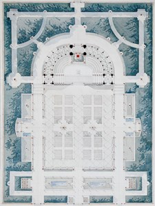 Ground Plan of an Amphitheatre in a Garden