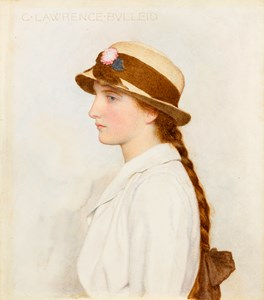 A Young Girl in a Straw Hat