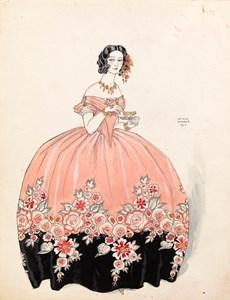 La tasse de thé: Séraphine en rose et noir