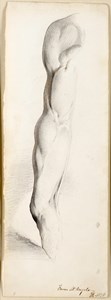 Copy after a Cast of the Right Arm of Michelangelo's David