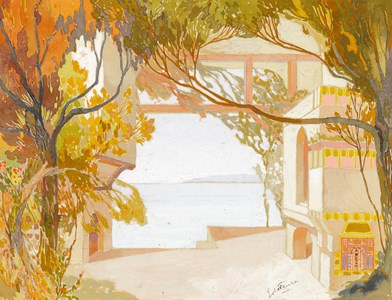 Design for a Stage Set: An Oriental Palace by the Sea