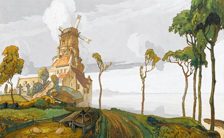 Dutch Landscape with a Windmill