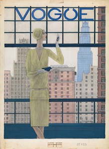 Design for the Cover of Vogue Magazine (May 1928)