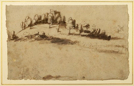 Landscape with a Farmhouse on a Hillside