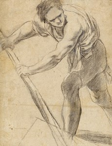 A Man Rowing [recto]; The Head of a Woman, Looking to the Left [verso]