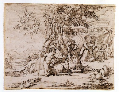 Landscape with a Bacchanal of Putti and a Goat