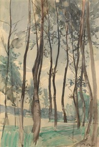Landscape with Trees in the Bois de Boulogne, Paris