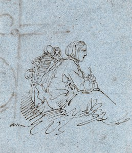 A Seated Woman with Two Children