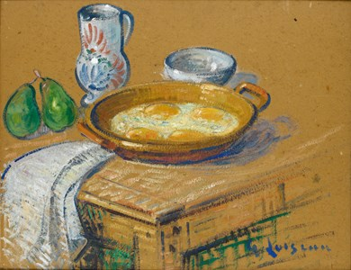 Still Life with a Dish of Fried Eggs
